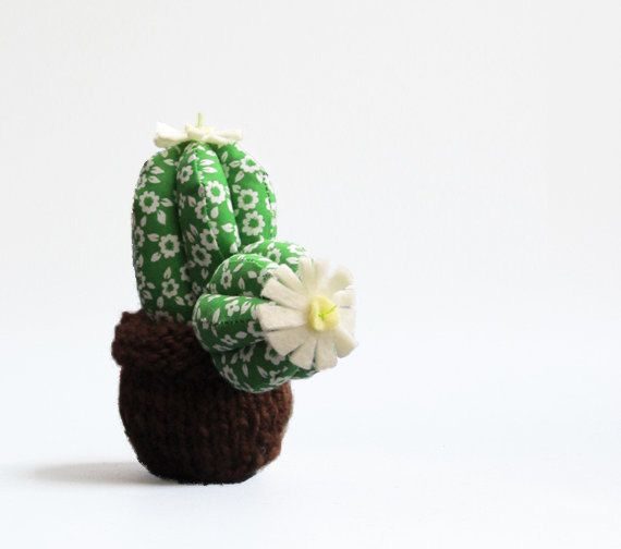 Little Round Cactus with white and yellow felt by thedollsunique ...