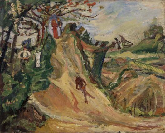 Landscape with Figure (Paysage avec figure)  c. 1918–1919 Oil on canvas 65.7 x 81.3 cm  Barnes foundation, Philadelphia