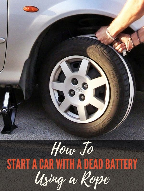 How To Start A Car With A Dead Battery >> How To Start A Car With A Dead Battery Using A Rope Jump A