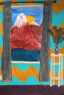 Henri Matisse window painting with acrylic paint. 4th grade hopeful!