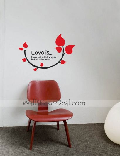 Love Is Looks Not With Eyes But With Mind Wall Sticker