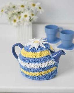 Daisy Motif Tea Cozy from Ravelry