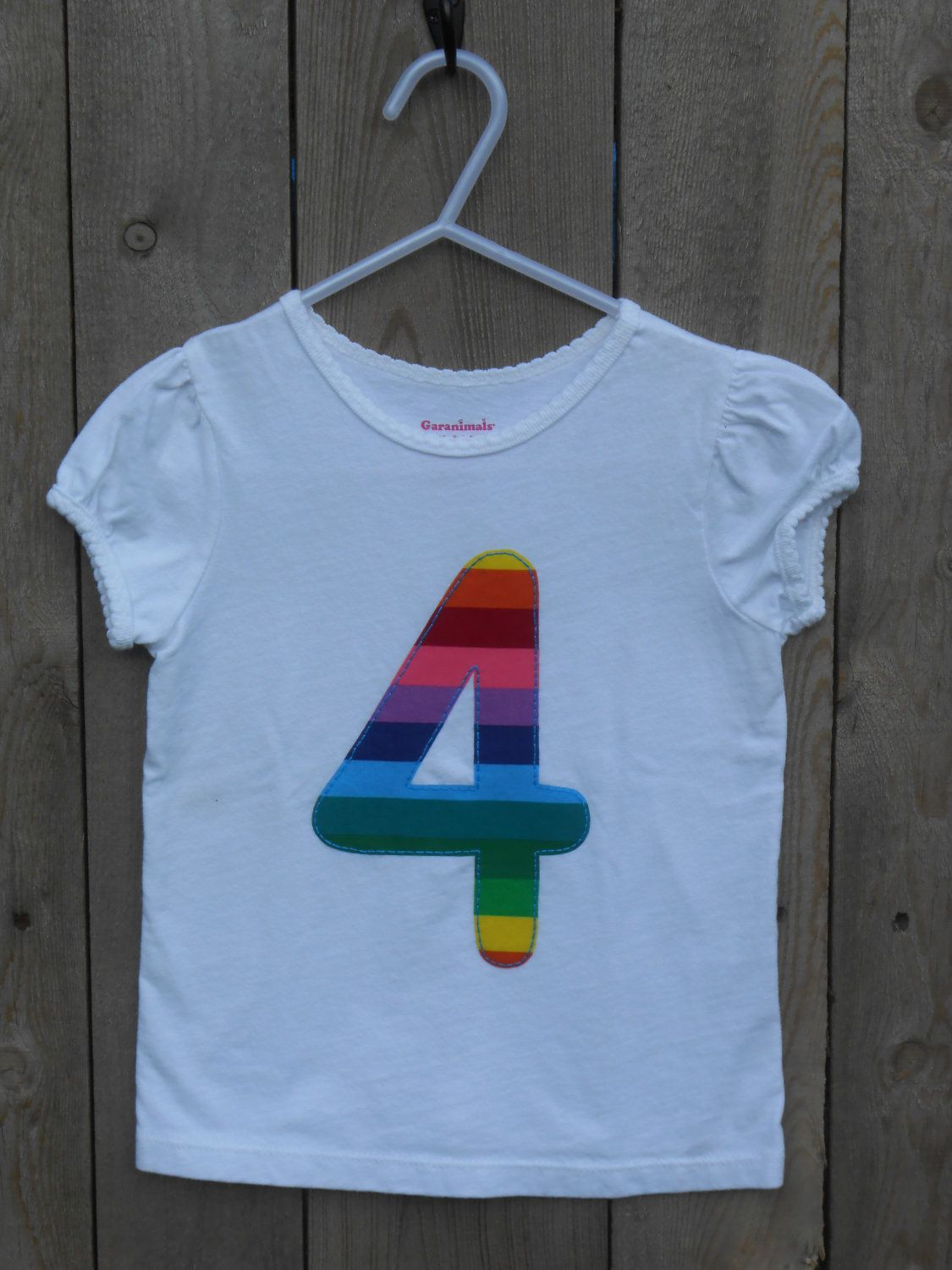 Rainbow Birthday Shirt Numbers 1 10 1500 Via Etsy