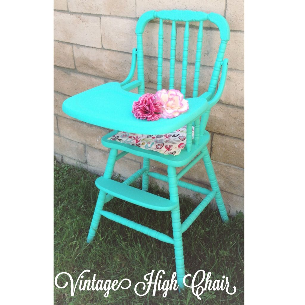 jenny lind high chair white klismos fabric side refinished this vintage with homemade chalk