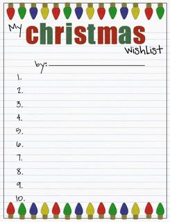 graphic relating to Printable Wish Lists named Pin upon Tis The Year