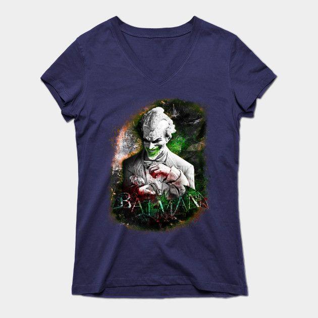 Joker Womens V-Neck T-Shirt