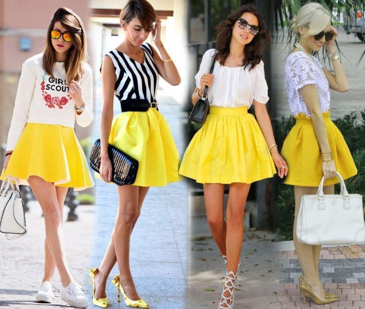 С чем сочетается короткая юбка