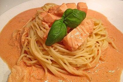 Photo of Salmon Cream Sauce with Pasta by Angel_Kessy | Chef