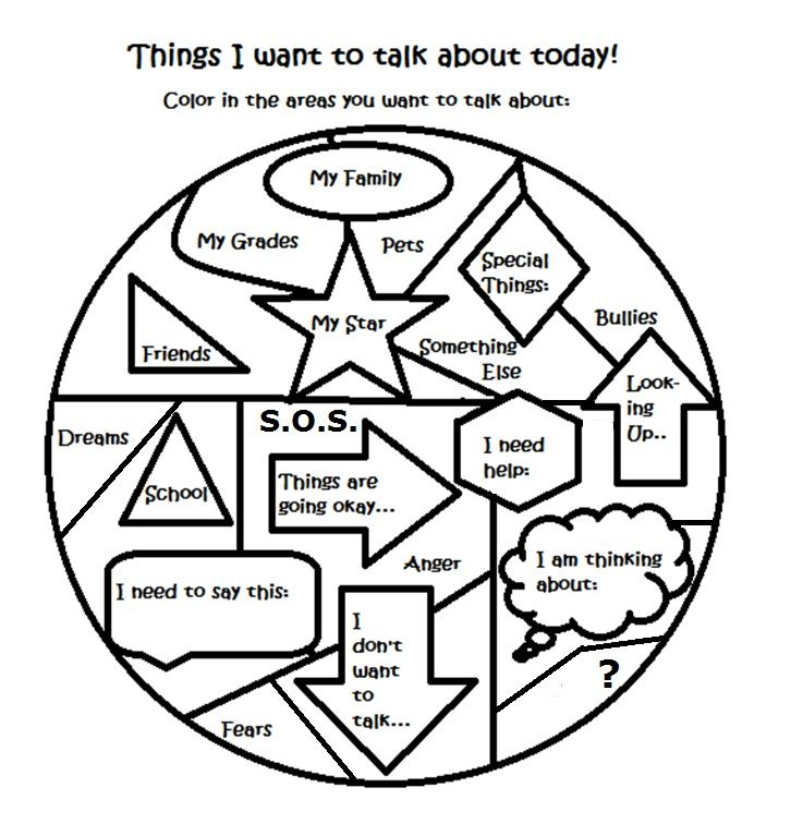 Free art therapy counseling group activity worksheet (With