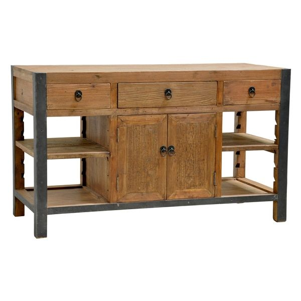Kosas Home Willow Pine Portable Kitchen Island | Overstock.com Shopping    The Best Deals