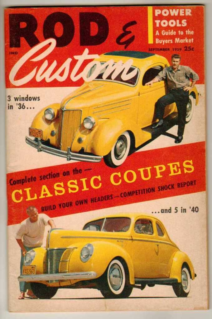 Rod & Custom September 1958 Old Vintage Classic Car Magazine 3 5 ...