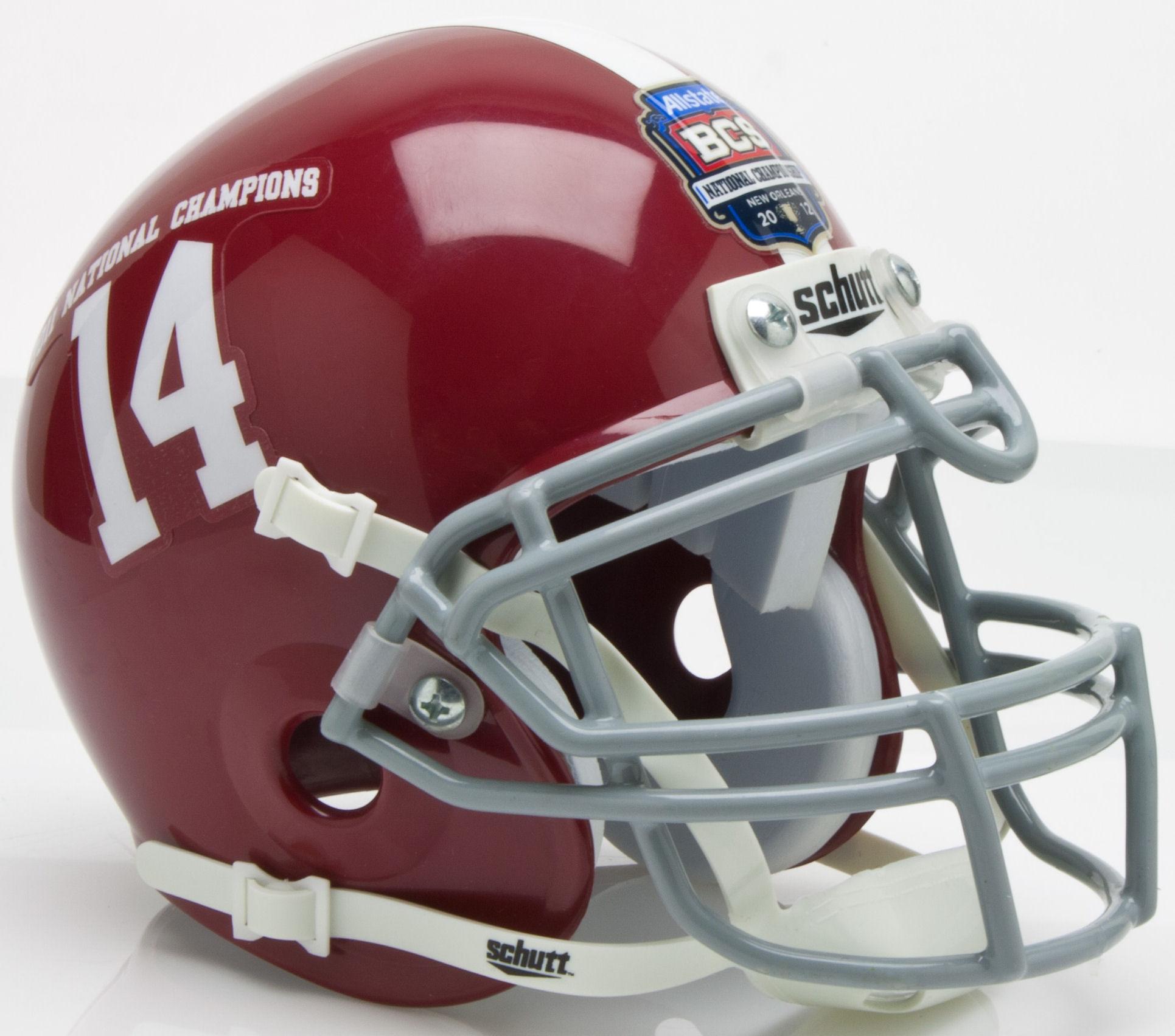 Alabama Crimson Tide 2011 Bcs National Champions Mini Xp Authentic Helmet Schutt In 2021 Alabama Crimson Tide Alabama Crimson Football Helmets