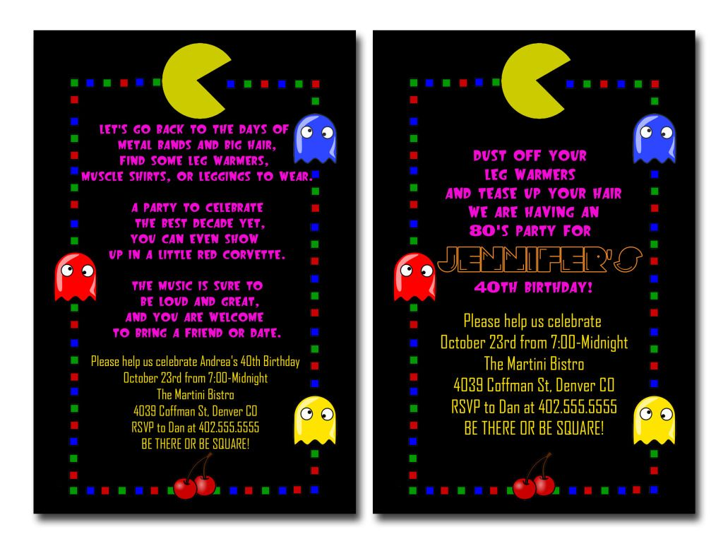 80 S Party Theme Retro 80 S Themed Pac Man Birthday Party