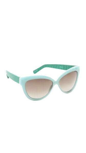 ea14ac9cc3f Linda Farrow Luxe Python Curved Square Sunglasses