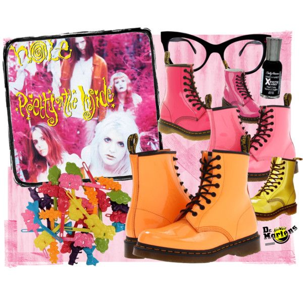 """90s Hole - Pretty on the Inside Album"" by ovaryaction on Polyvore #courtneylove #hole #90s #grunge #docmartens #polyvore"