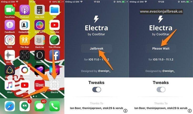 electra jailbreak Iphone operating system, Ios 11, Facetime