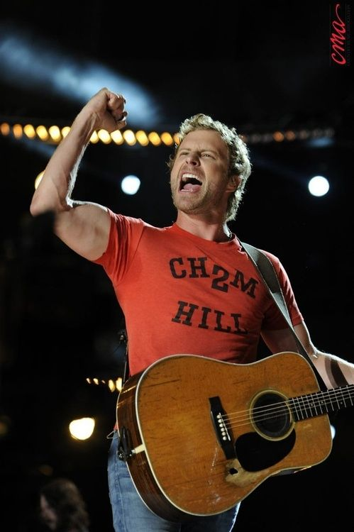 Dierks Bentley, oh and this handsome guy is in concert tonight with Miranda! YAHOOO!!!