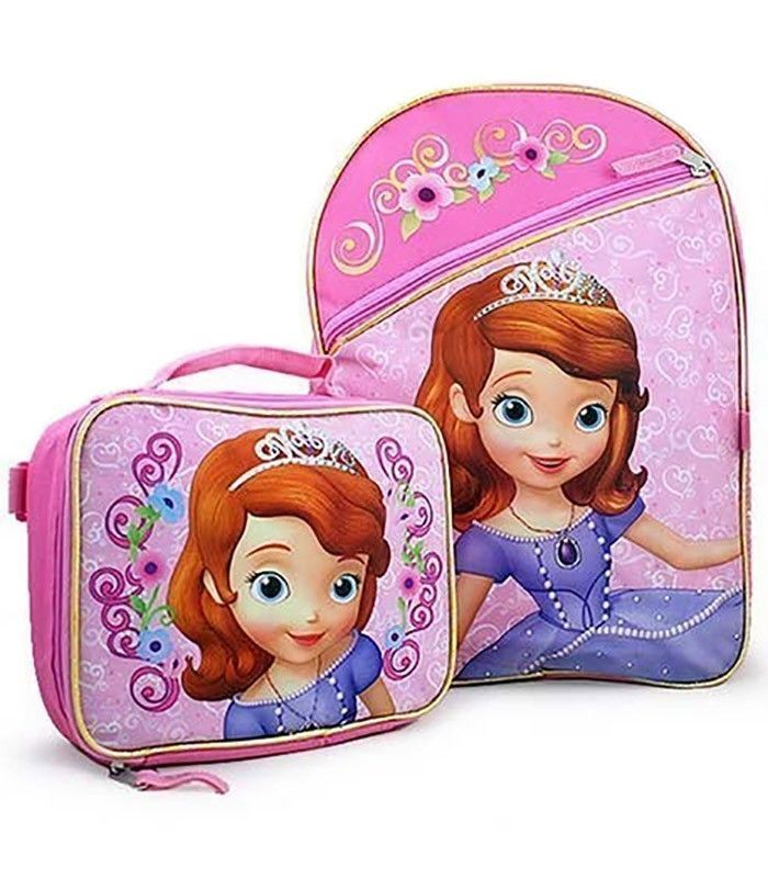 1a213932db7 Disney Princess Sofia Backpack   Lunch Box Bag Set School Kid Girl Children  Book