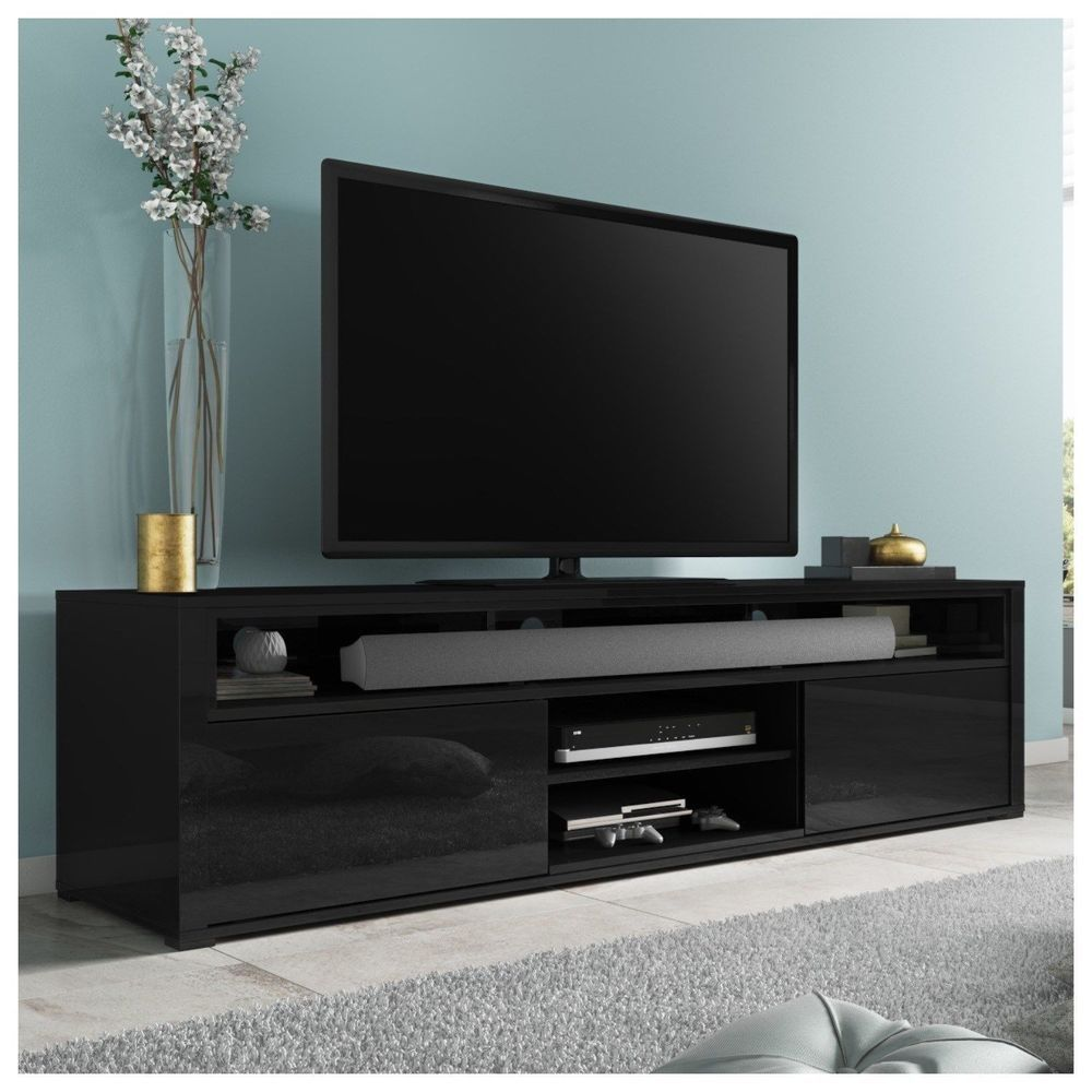 White High Gloss Tv Unit Stand Console Furniture Cabinet Storage Living Room New High Gloss Tv Unit Black Tv Unit Black Gloss Tv Unit