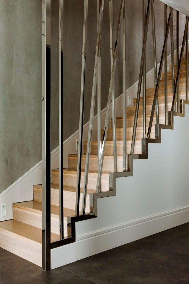 Wunderbar Treppendesign Holzstufen Stahl Rahmen Dekorativ Modernes Haus