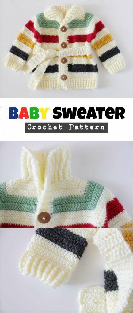 Crochet Baby Sweater - Pretty Ideas | Crochet baby | Croché ...