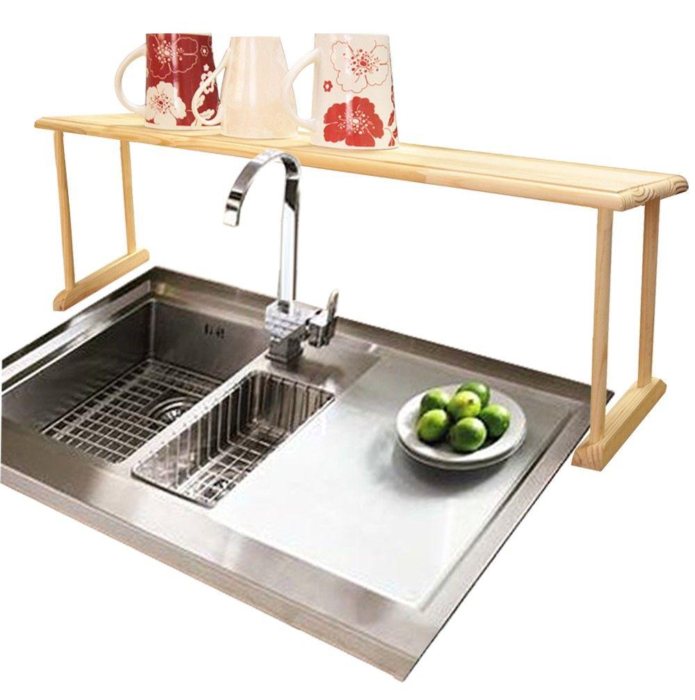 Lipper bamboo overthesink shelf sink shelf sinks and shelving