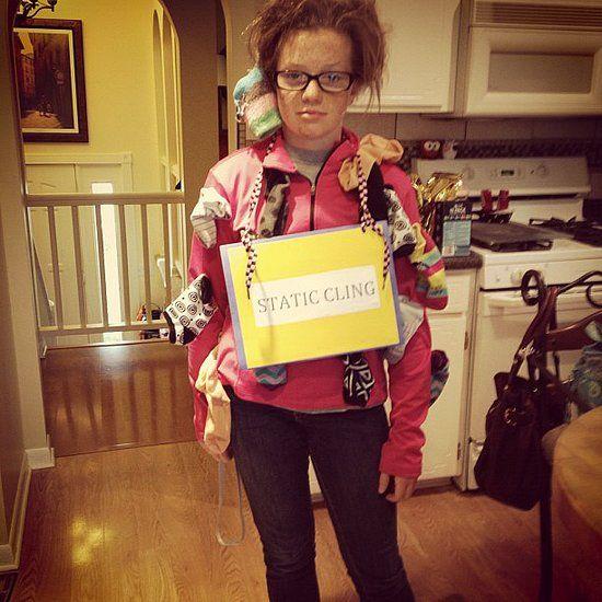28 Last-Minute DIY Halloween Costumes | Static cling, Halloween ...