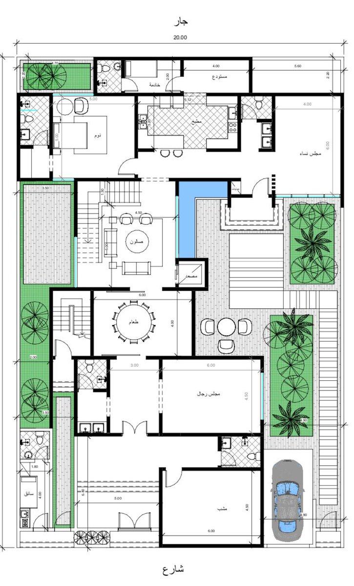 مخططات فلل Al1000a تويتر Small House Design Plans Square House Plans Architectural Floor Plans