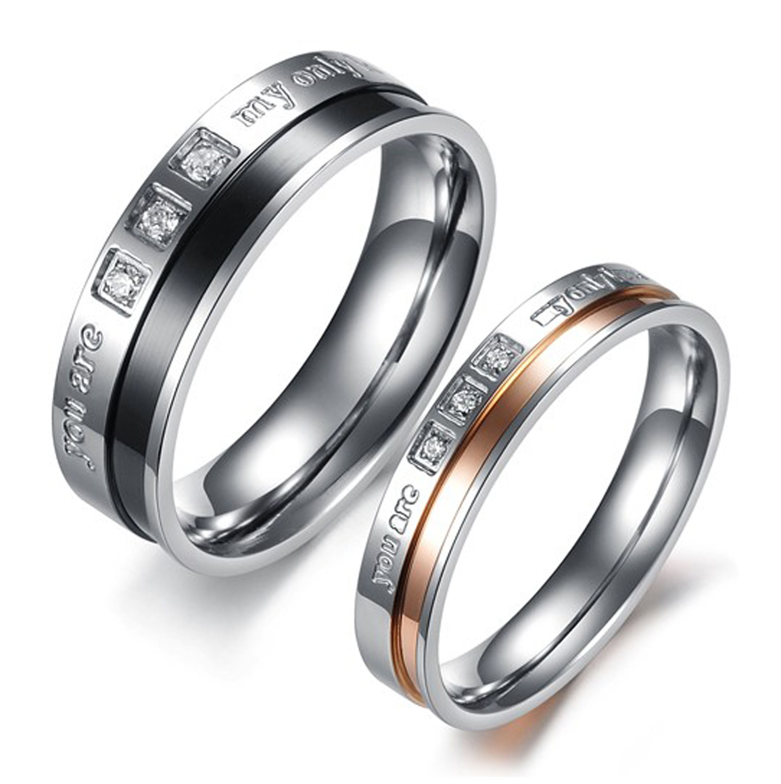 Personalized Custom Titanium Couples Rings Couple Ring Couples Ring Couple Rings Womens Jewelry Rings Promise Rings For Couples Wedding Ring Bands