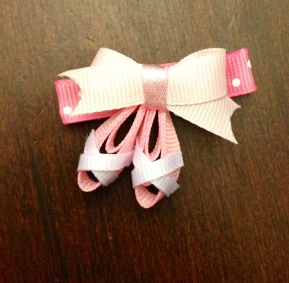 Ballet Slippers hair clip on Etsy, $2.84 CAD