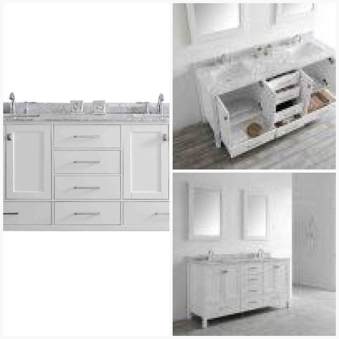 Eviva Aberdeen 78 Inch Bathroom Vanity Transitional White