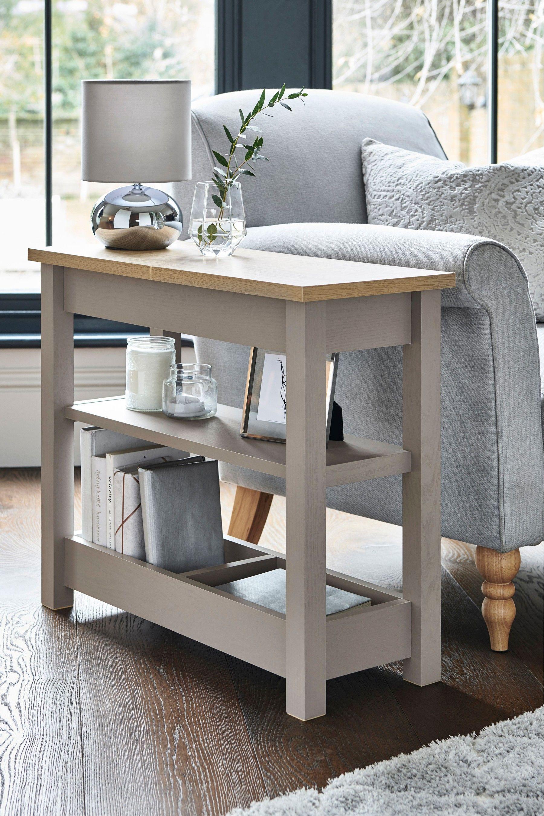 Malvern Dove Grey Sofa Side Table In