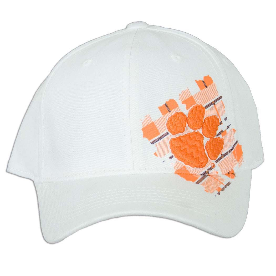 ecdad02742639 Clemson Tiger White Fitted Hat  clemson  tigers
