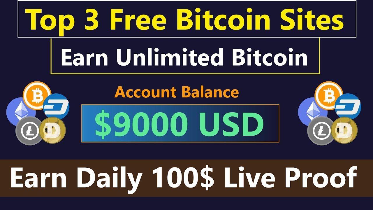 Top 3 Free Bitcoin Earning Sites | Earn Unlimited Bitcoin | Earn