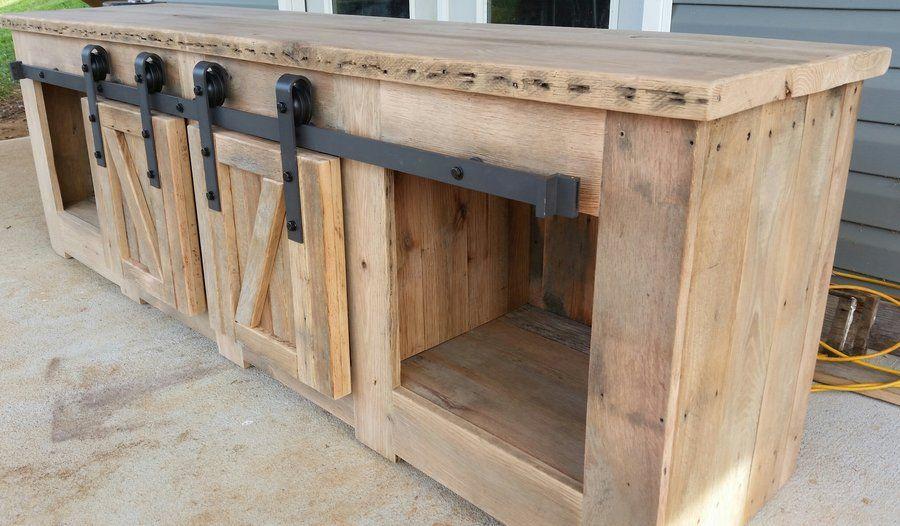 Sliding Barn Door Cabinet and Barn Door | Barn door ...