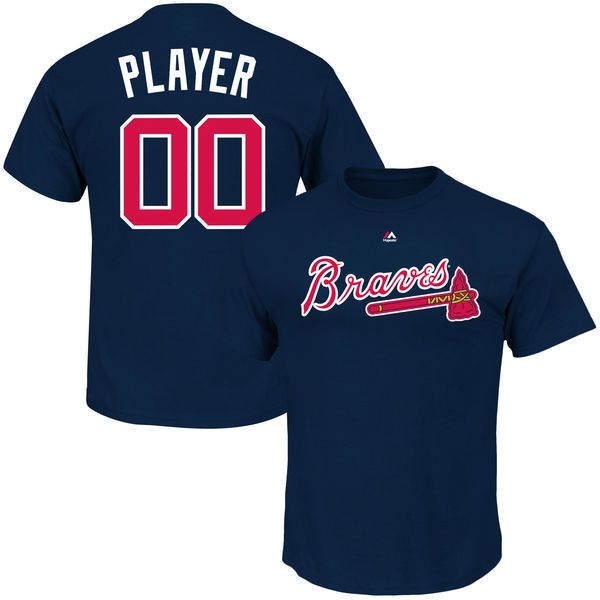 dd78b70ee Atlanta Braves Majestic Custom Roster Name   Number T-Shirt - Tee Color  Available Are Navy And Red