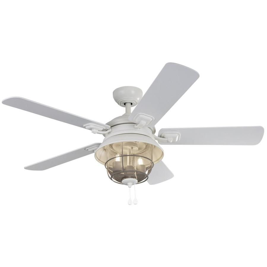 Harbor Breeze Altissa 52 In Matte White Led Indoor Outdoor Ceiling Fan With Light 5 Blade Lowes Com Ceiling Fan With Light Fan Light Ceiling Fan White outdoor ceiling fan with light