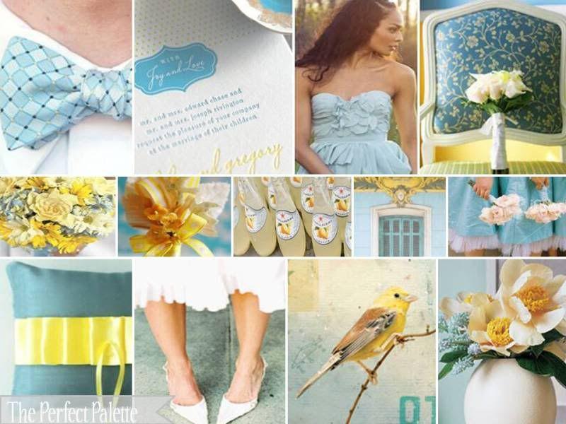 tiff blue + yellow | Yellow and Blue Wedding | Pinterest | Wedding ...