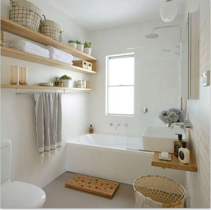 Shower over bath … | bathroom decor | Pinterest | Simple bathroom ...