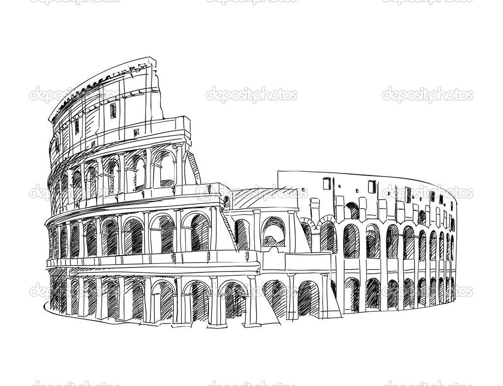Coliseo Romano Dibujo Buscar Con Google Marcadores De Mesas