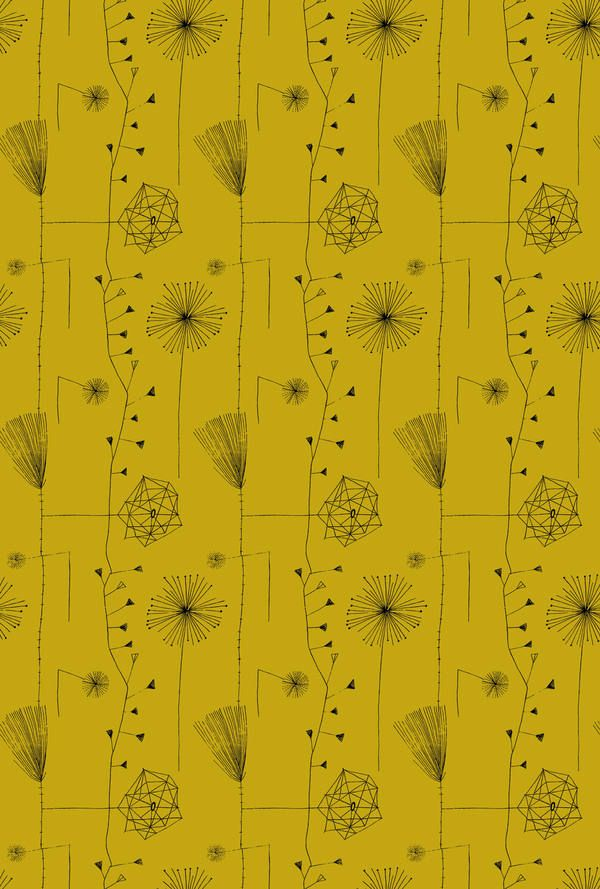 Lucienne Day Printed Linen Dandelion Clocks Fabric For Heal S 1952 Lucienne Day Dandelion Clock Printing On Fabric