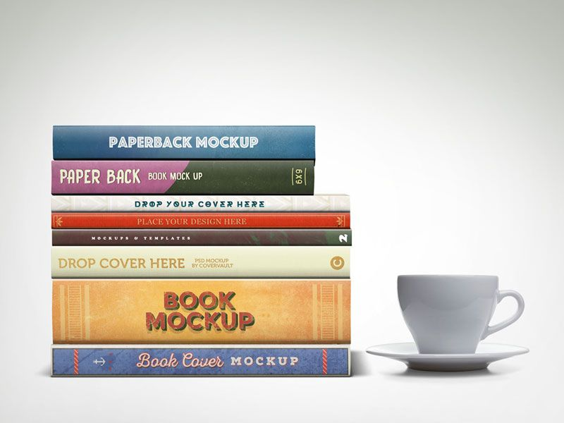 Mockup Of Stacked Book With Different Width Of Spine Is Something Different And Unique To Show Your Project In Most Versatile Wa Book Cover Mockup Mockup Books