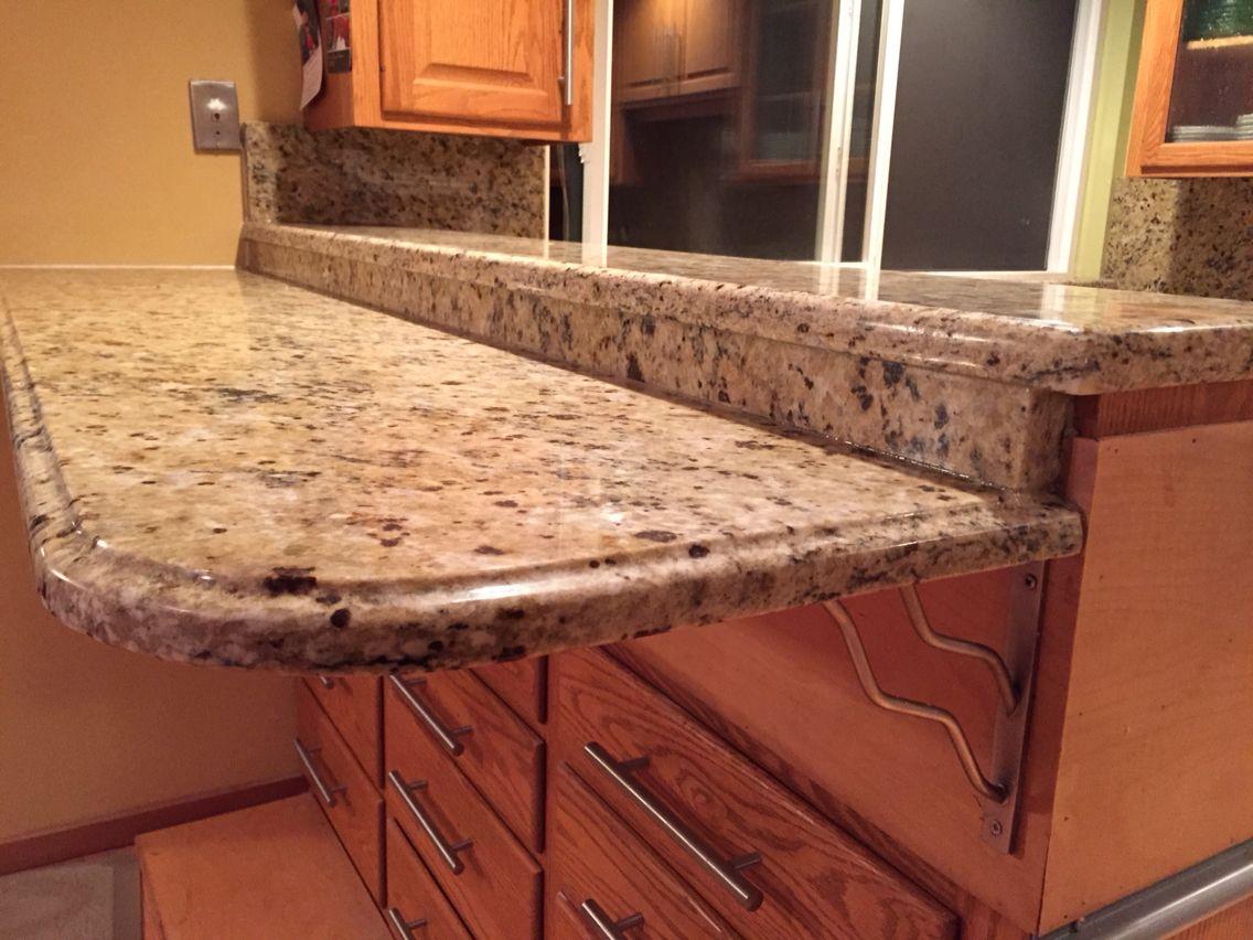 Santa Cecilia Granite Countertop With Og Edge Profile