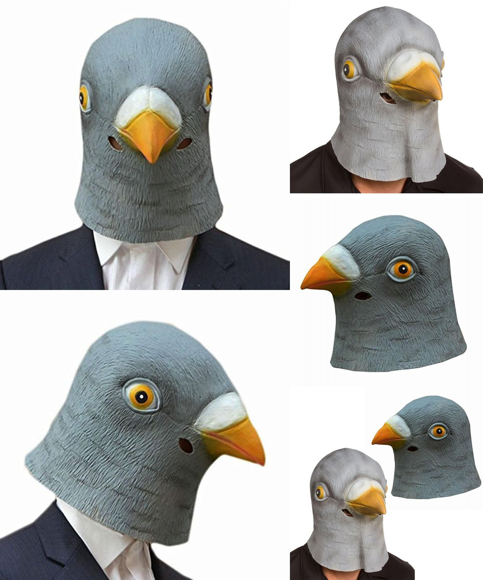 Visit to Buy] New Pigeon Mask Latex Giant Bird Head Halloween ...