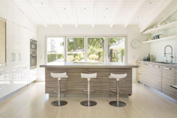 natural uno white high gloss kitchen design interior | Contemporary kitchen | White high gloss and texture ...