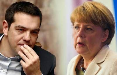 Alexis Tsipras e Angela Merkel