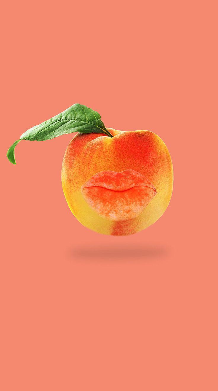 Kiss peach fuzz goodbye. Digital Collage for a beauty treatment. Dermaplaning #digitalcollage #peach #kiss #beauty