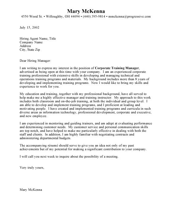 Sample Cover Letters for Employment Sample Cover Letter Job My