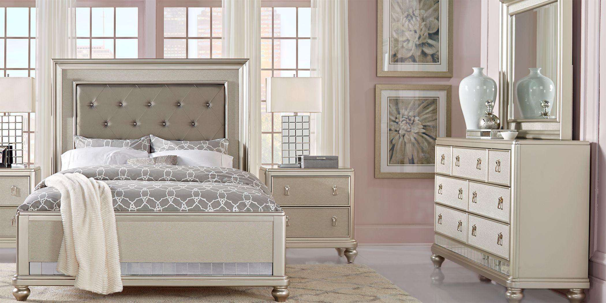 Sofia Vergara Paris Silver 7 Pc Queen Bedroom Bedroom