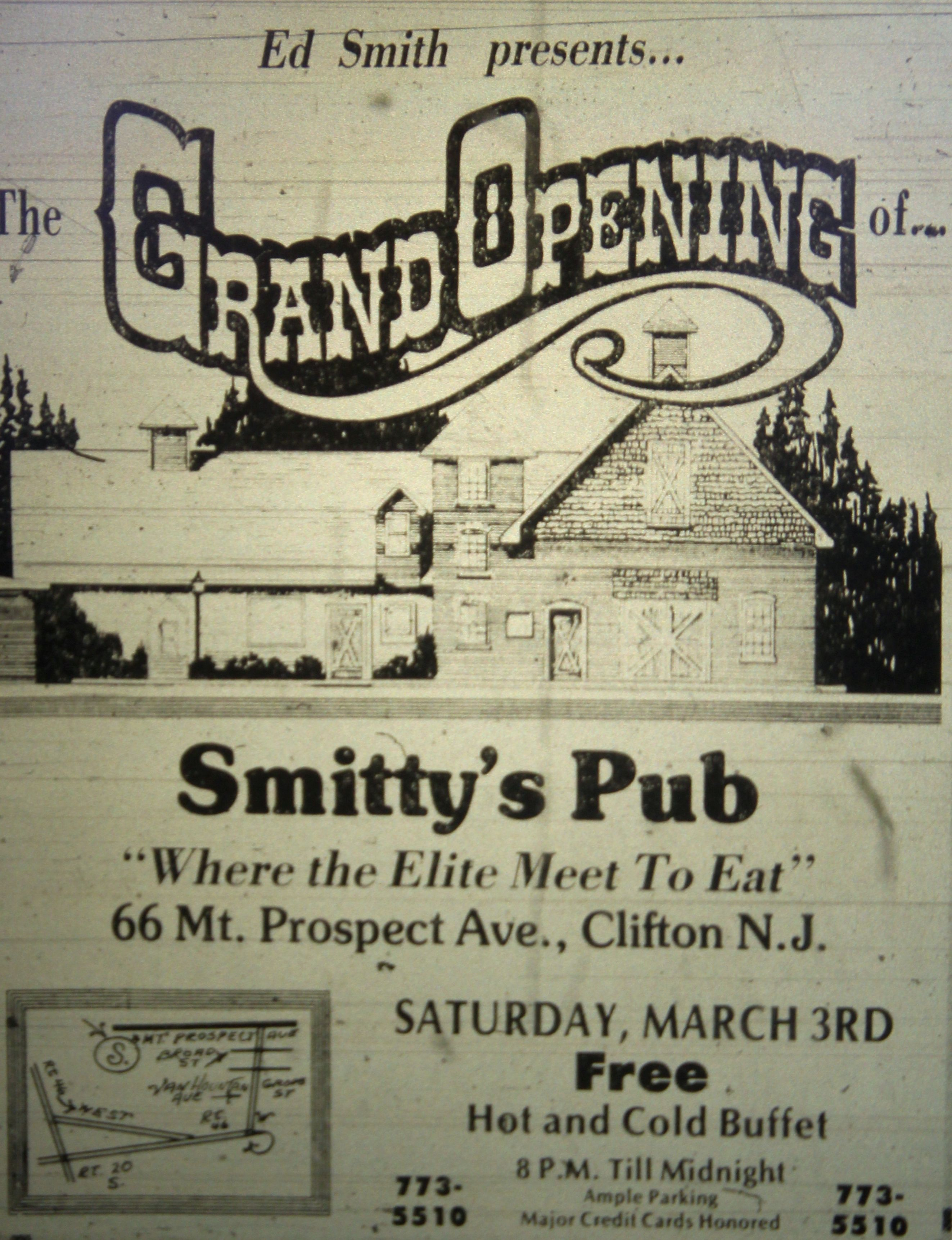 Smitty S Pub In Clifton Nj 1970 S Vintage Passaic County